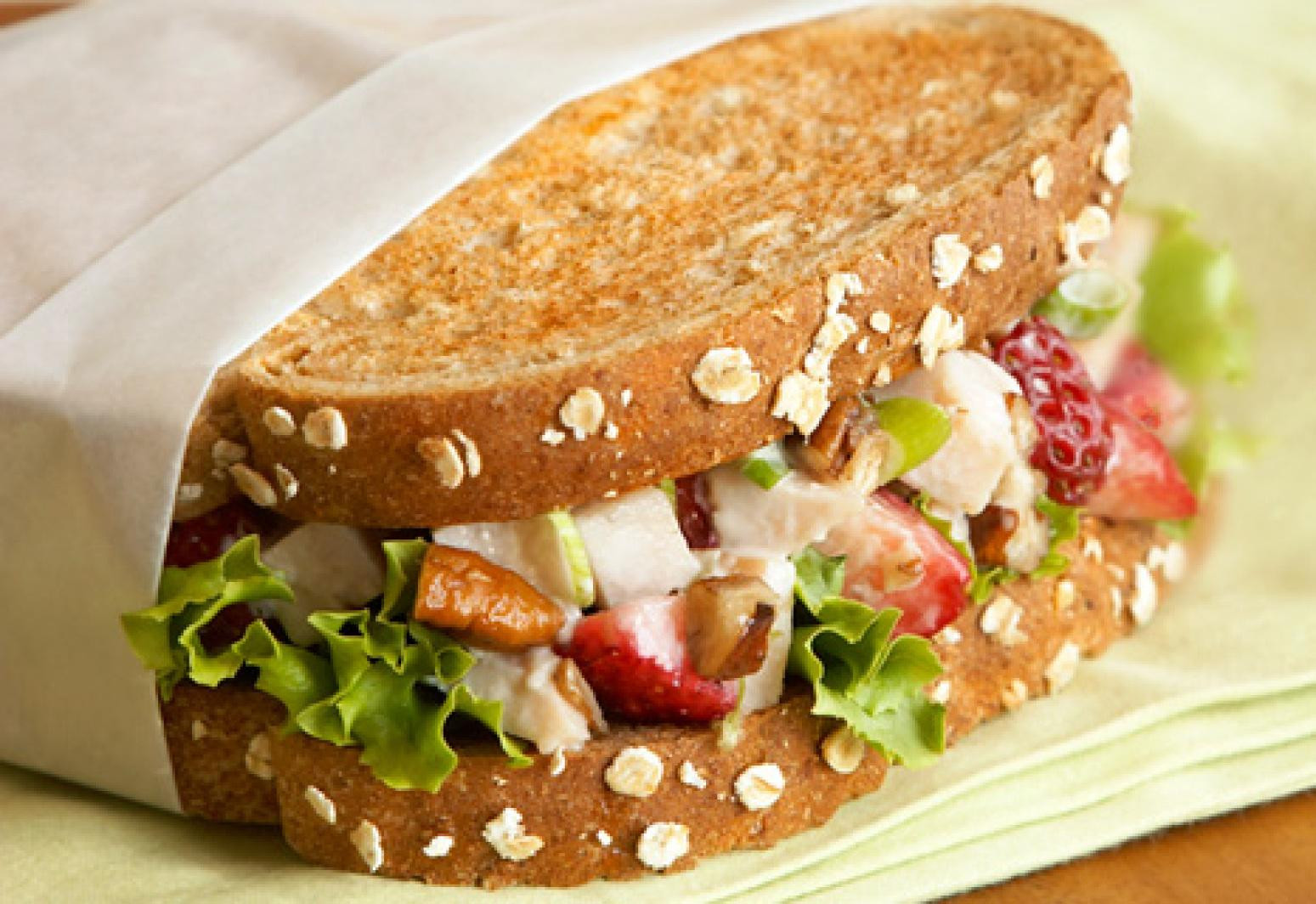 Turkey Salad Sandwich  Balsamic Berry and Turkey Salad Sandwiches Recipe
