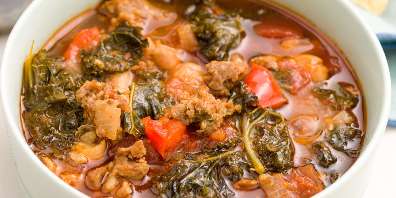 Turkey Sausage Recipes  Best Spicy Turkey Sausage and Kale Chili Recipe How to