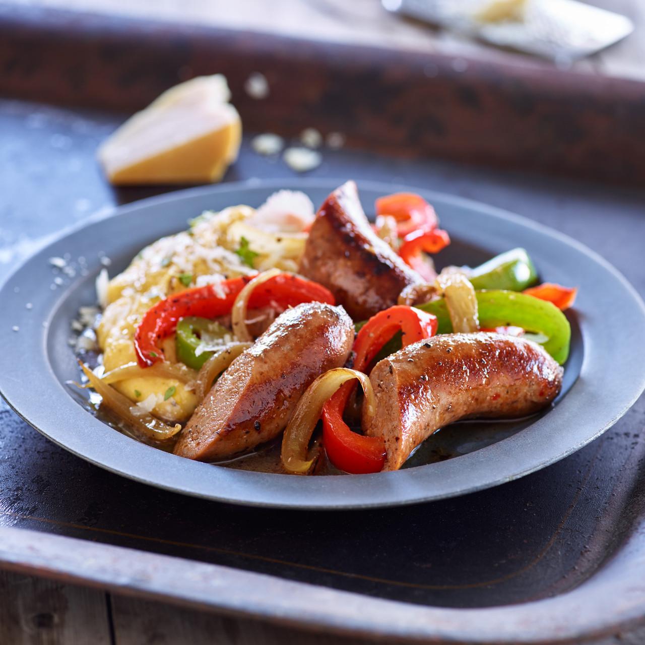 Turkey Sausage Recipes  Turkey Sausage Peppers & ions With Cream Polenta Shady