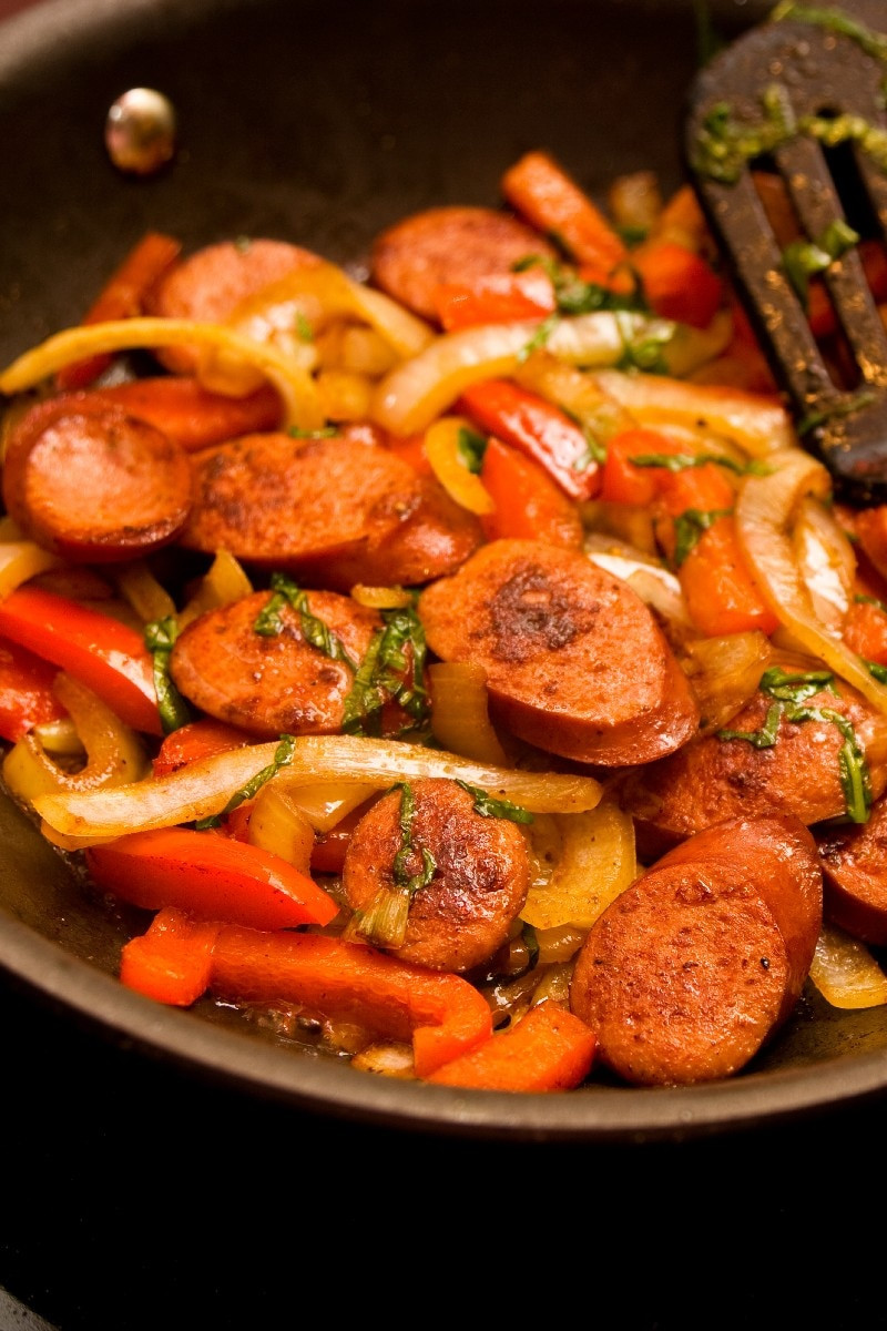 Turkey Sausage Recipes  Turkey Sausage and Bell Peppers Weight Watchers