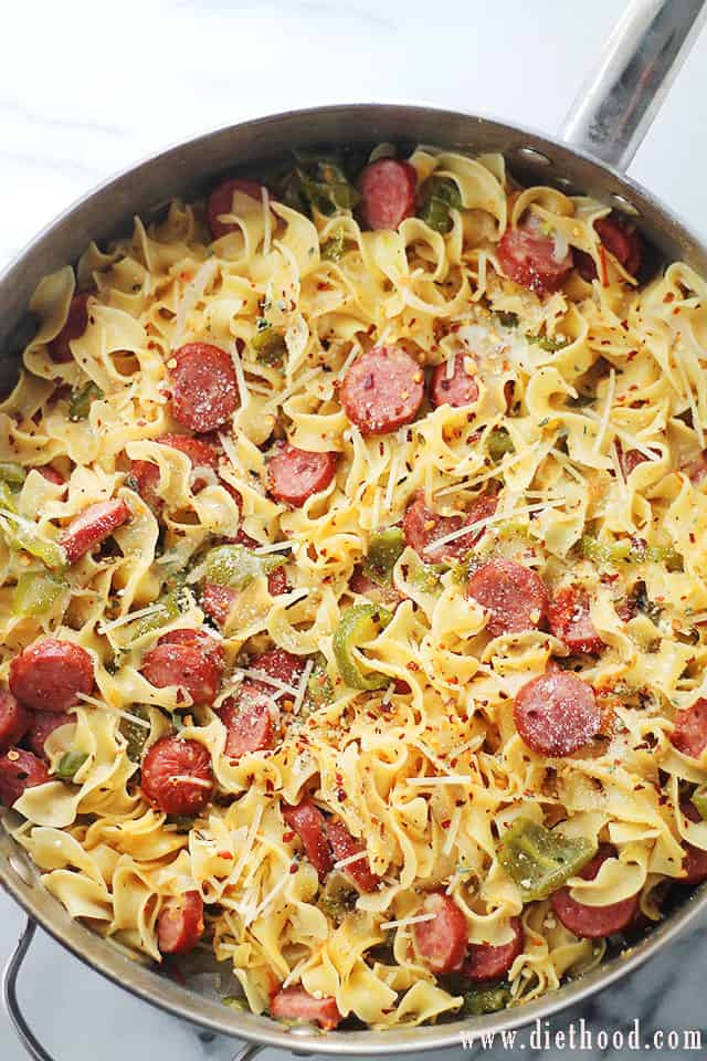 Turkey Sausage Recipes  e Pot Turkey Sausage and Noodles Recipe