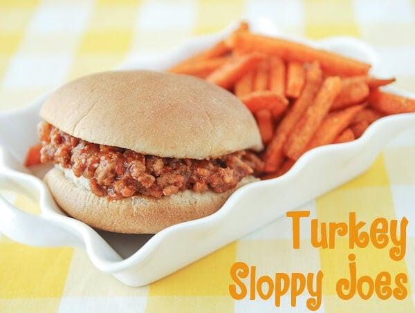 Turkey Sloppy Joes  ground turkey sloppy joes