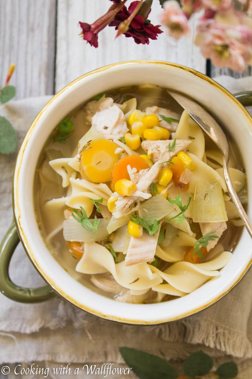 Turkey Soup From Leftover  Leftover Turkey Noodle Soup