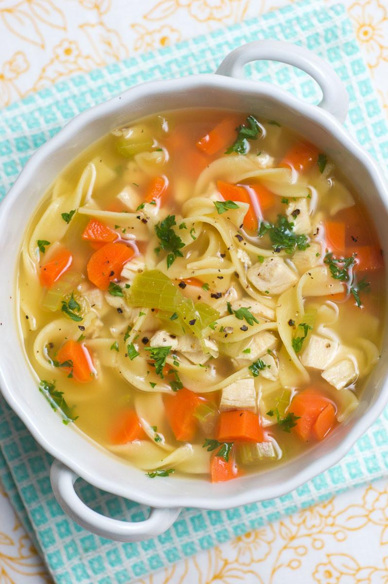 Turkey Soup From Leftover  Sugar & Spice by Celeste Chicken or Turkey Noodle Soup