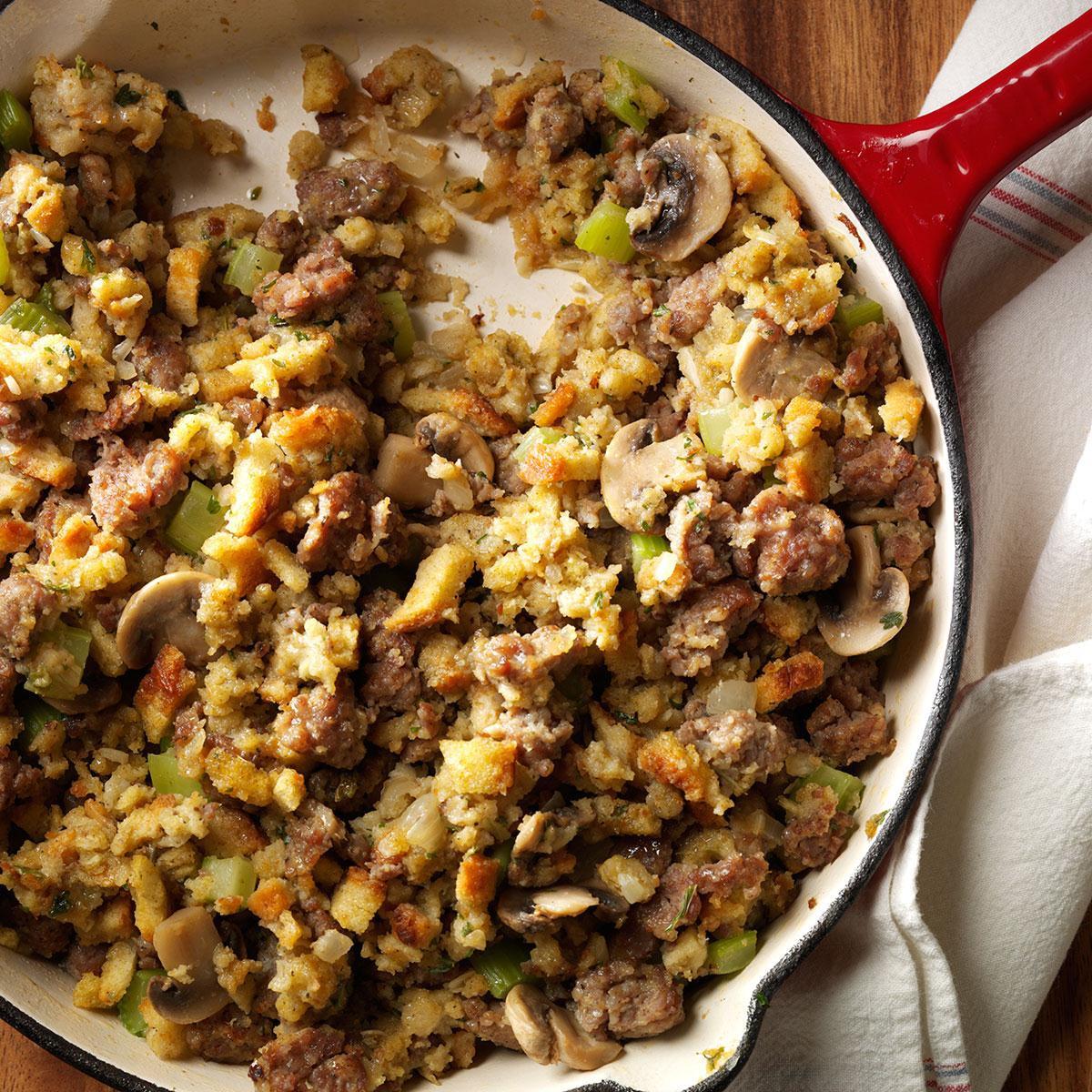 Turkey Stuffing With Sausage  Skillet Sausage Stuffing Recipe