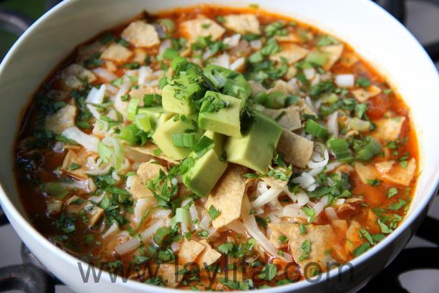 Turkey Tortilla Soup  Chicken or turkey tortilla soup recipe Laylita s Recipes