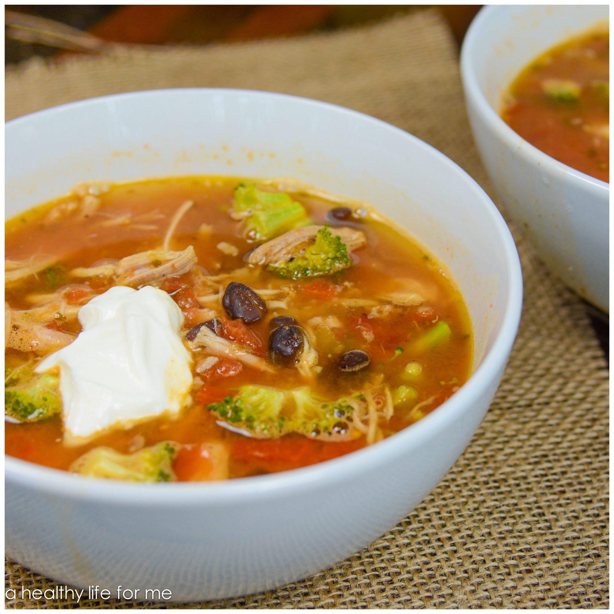 Turkey Tortilla Soup  Healthy Turkey Tortilla Soup A Healthy Life For Me