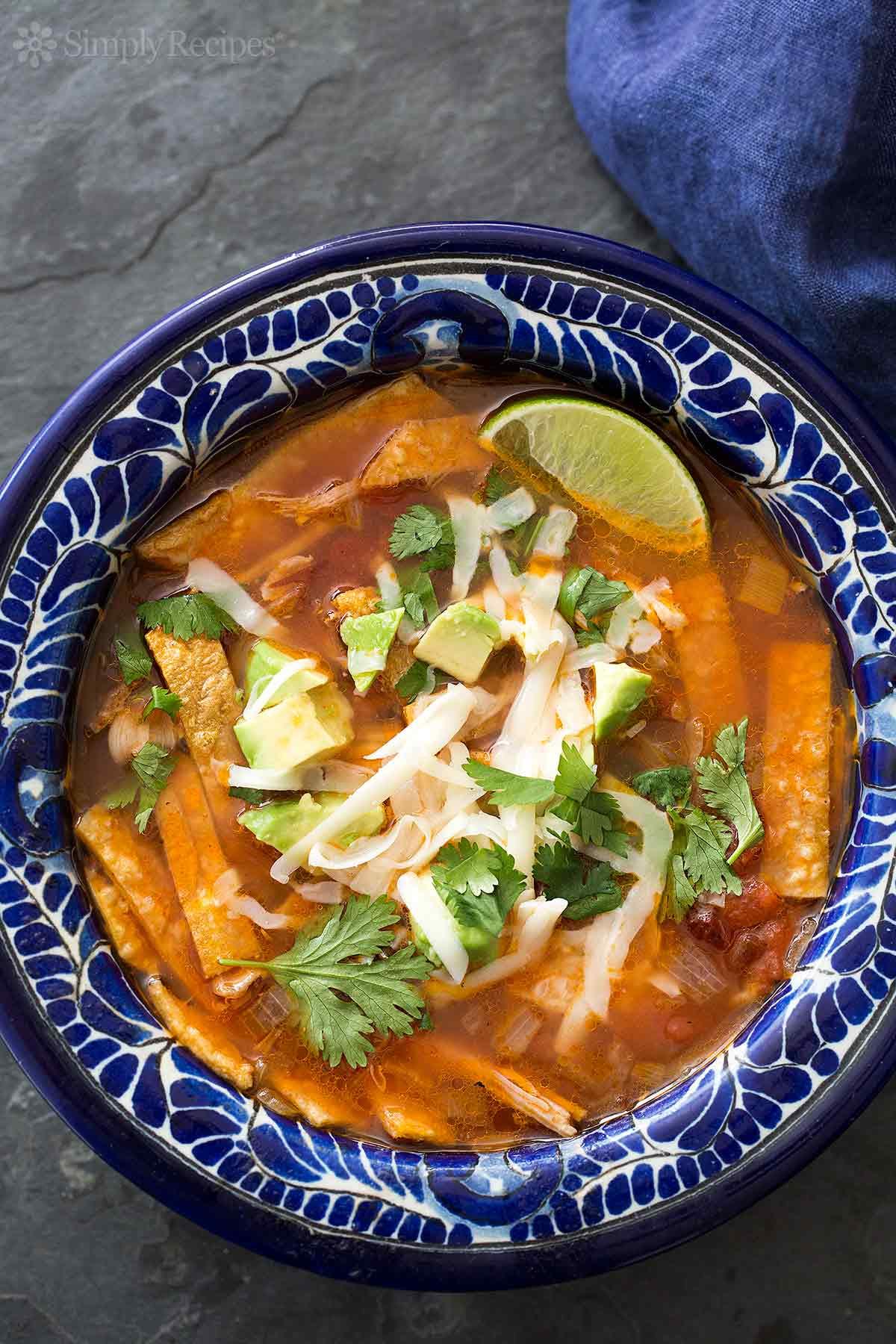 Turkey Tortilla Soup  Turkey Tortilla Soup Recipe