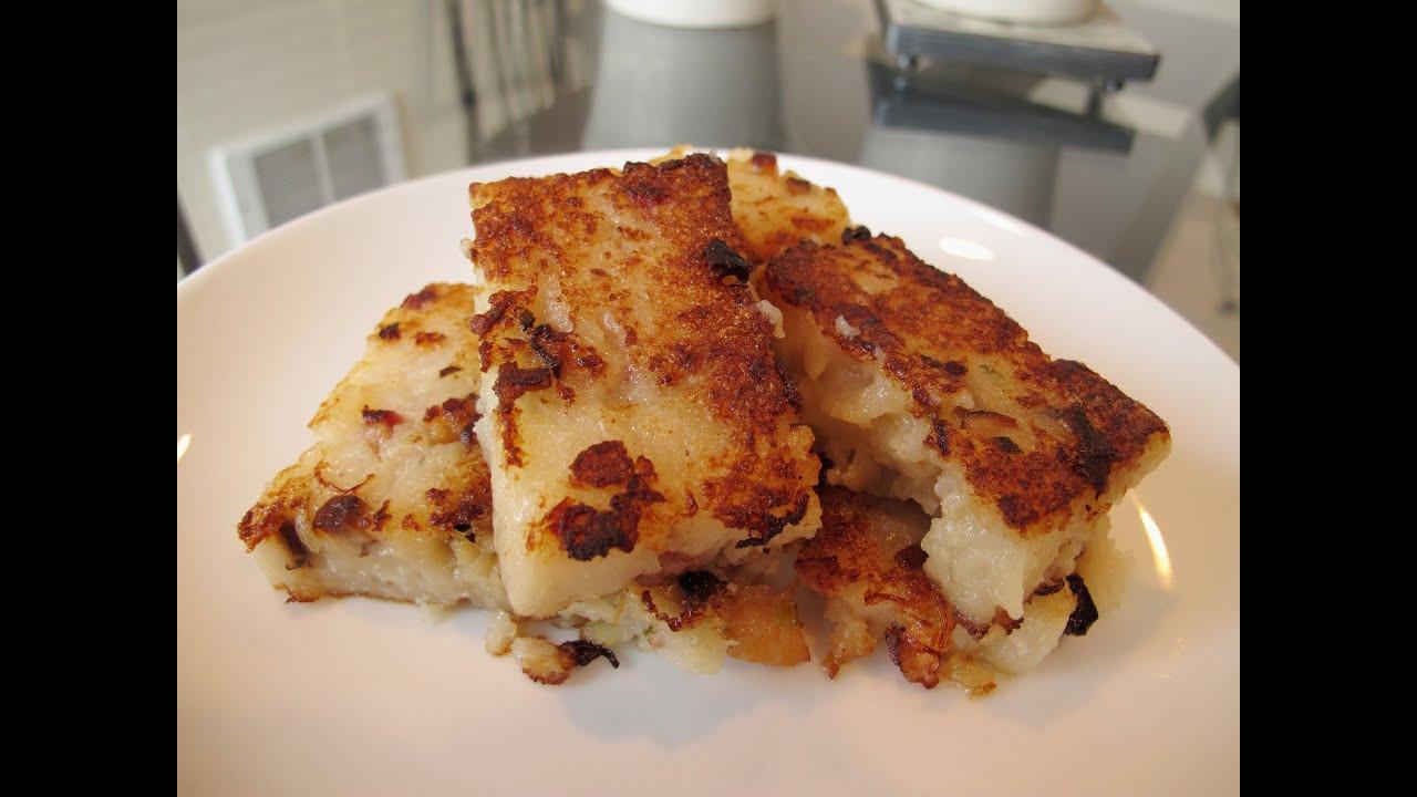 Turnip Cake Recipe  港式蘿蔔糕 Chinese Turnip Cake