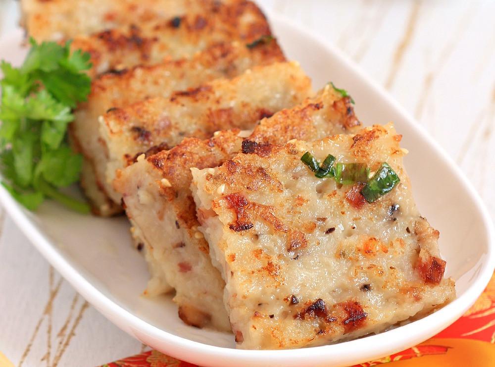 Turnip Cake Recipe  my bare cupboard Steamed turnip cake Loh bak goh