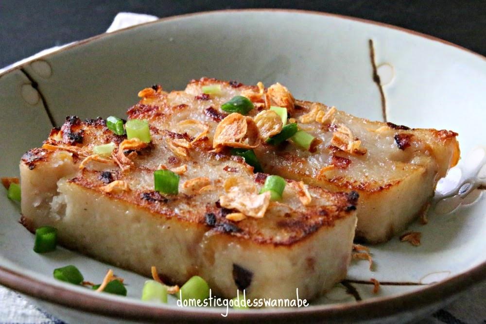 Turnip Cake Recipe  chinese steamed radish cake 萝卜糕
