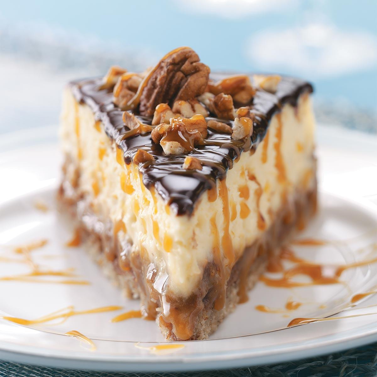 Turtle Cheesecake Recipe  Layered Turtle Cheesecake Recipe