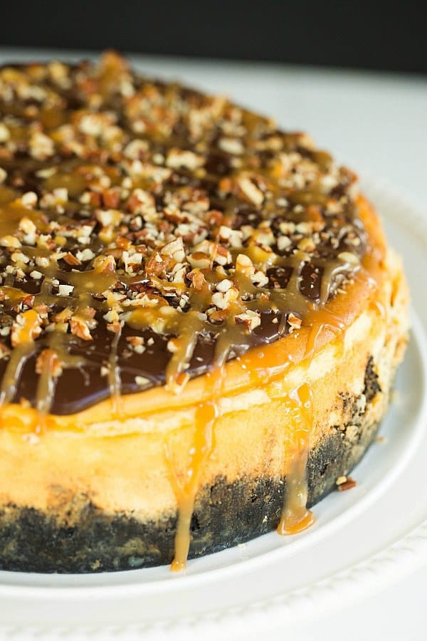 Turtle Cheesecake Recipe  Turtle Cheesecake Recipe