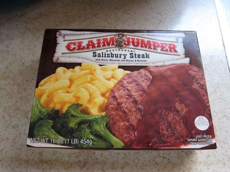 Tv Dinner Brands  Frozen Friday Claim Jumper Salisbury Steak Dinner