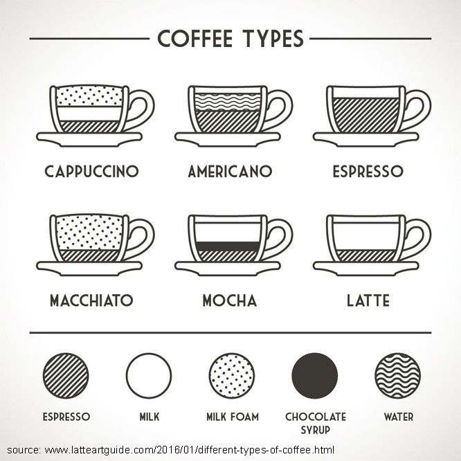 Types Of Coffee Drinks  Beginners Guide to Types Coffee Average Joes