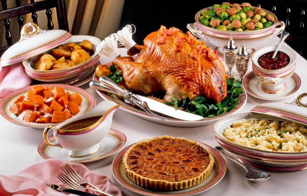 Typical Christmas Dinner  Thanksgiving the traditional dinner menu and where to