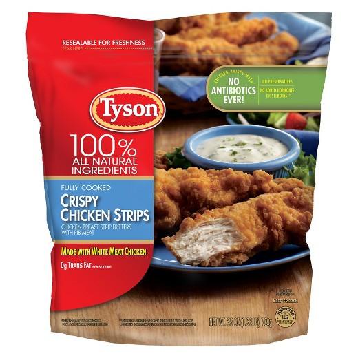 Tyson Chicken Tenders  tyson breaded chicken breast tenderloins deep fry