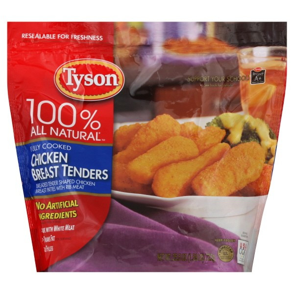 Tyson Chicken Tenders  Tyson Chicken Breast Tenders Breaded Fully Cooked All