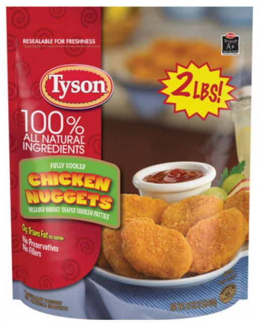 Tyson Chicken Tenders  Tyson Chicken Nug s $2 99 reg $5 49 Kroger Mega