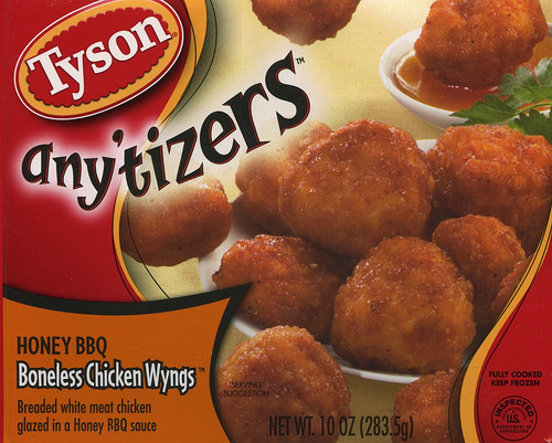 Tyson Chicken Wings  Tyson Anytizers Honey BBQ Boneless Chicken Wings Food In