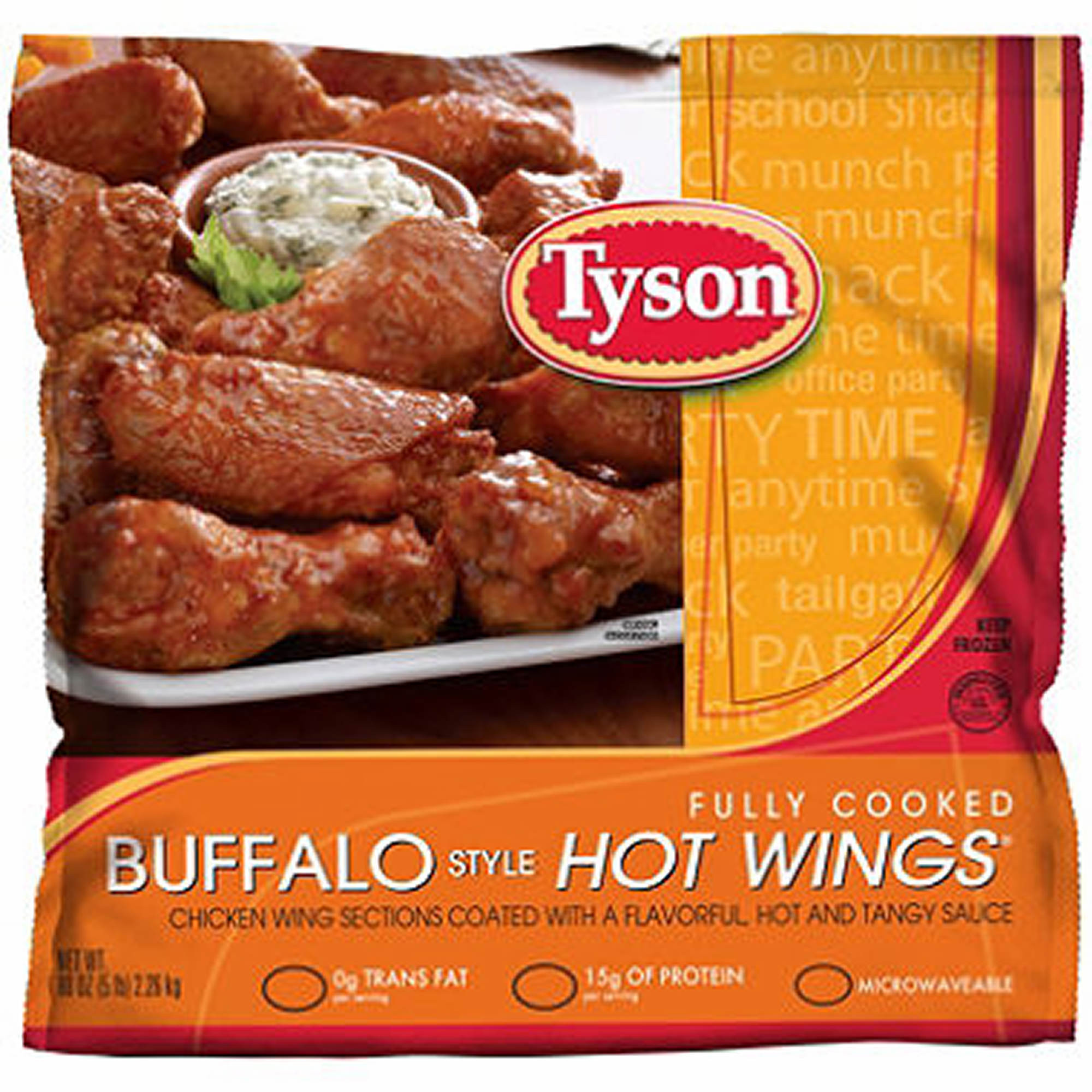 Tyson Chicken Wings  Tyson Fully Cooked Buffalo Style Hot Wings 5 lbs BJ s