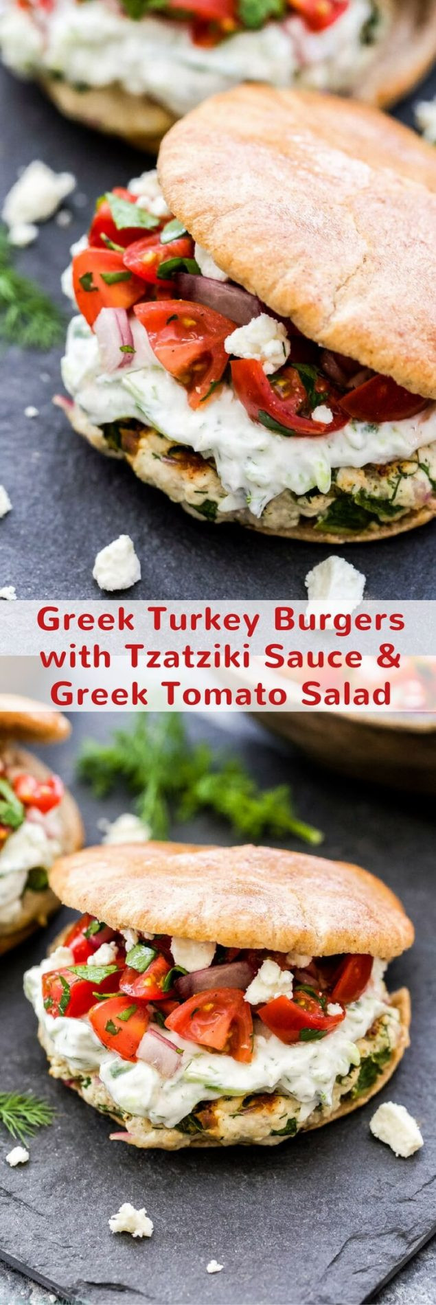 Tzatziki Sauce Kroger  Greek Turkey Burgers with Tzatziki Sauce and Greek Tomato
