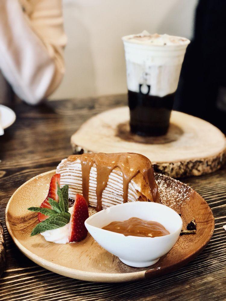 U Dessert Story  Thai Tea Crepe Cake $12 Yelp