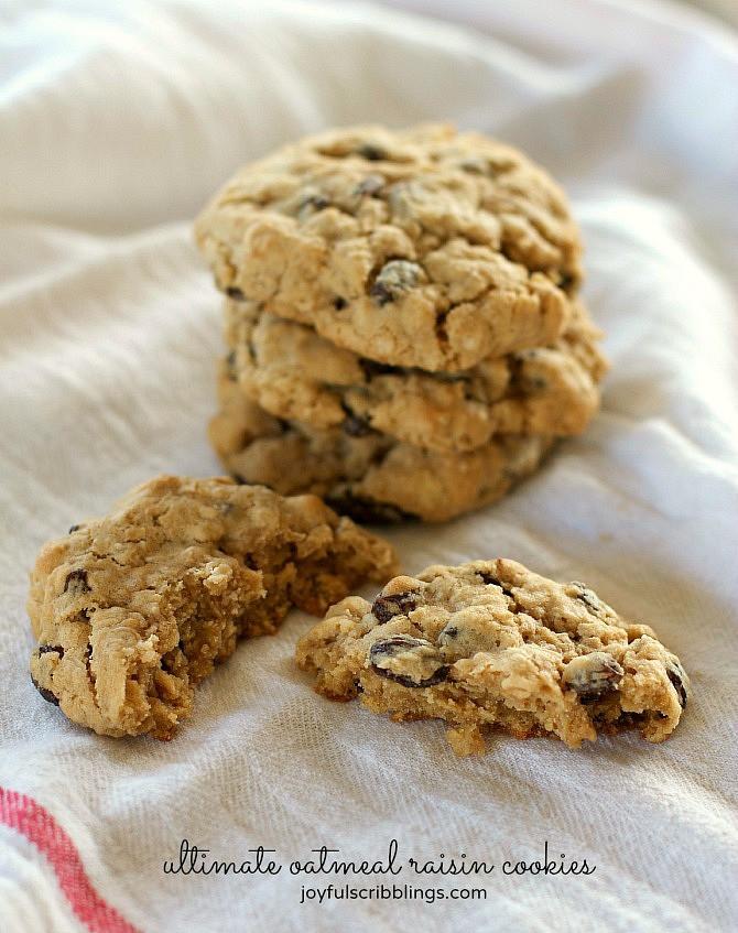 Ultimate Oatmeal Raisin Cookies  The Ultimate Oatmeal Raisin Cookies JOYFUL scribblings