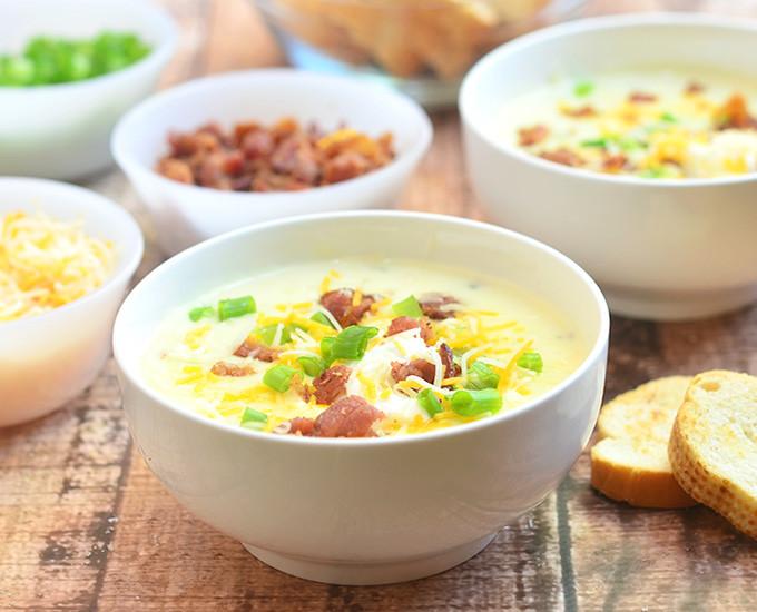 Ultimate Potato Soup  ultimate loaded baked potato soup