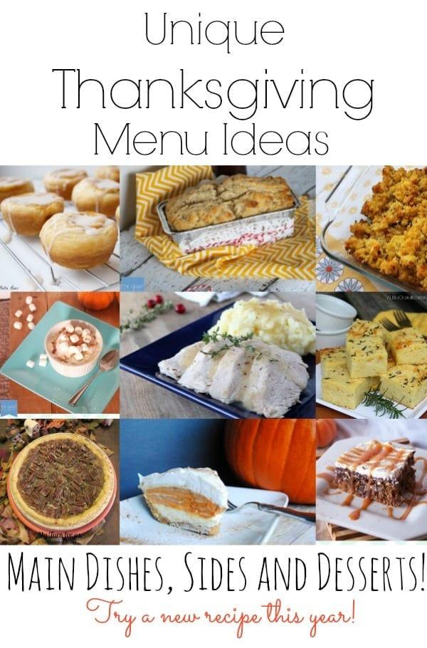 Unique Dinner Ideas  Unique Thanksgiving Menu Ideas mom makes dinner
