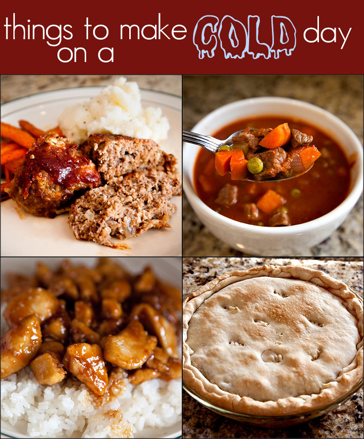Unique Dinner Ideas  dinner ideas for a cold day