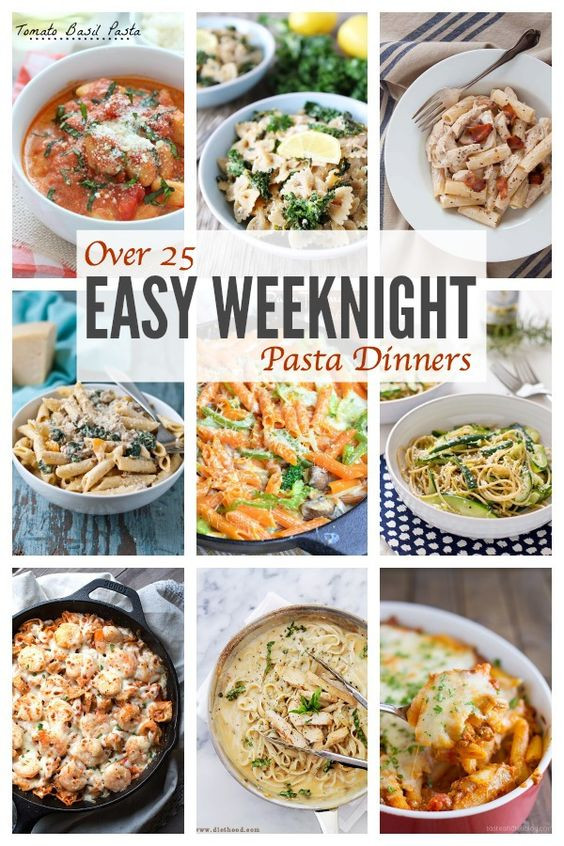 Unique Dinner Ideas  Easy Weeknight Pasta Dinners