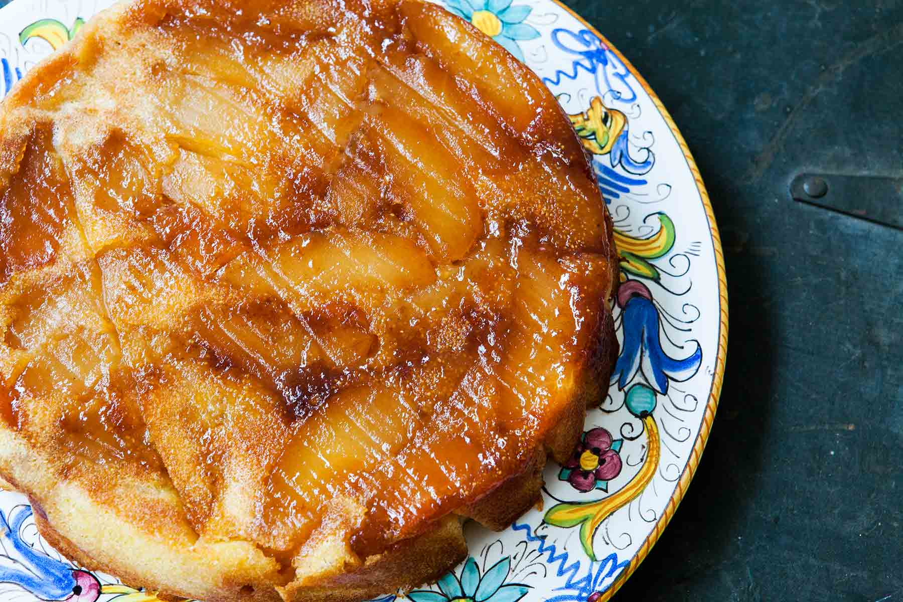 Upside Down Apple Cake  Apple Upside Down Cake Recipe