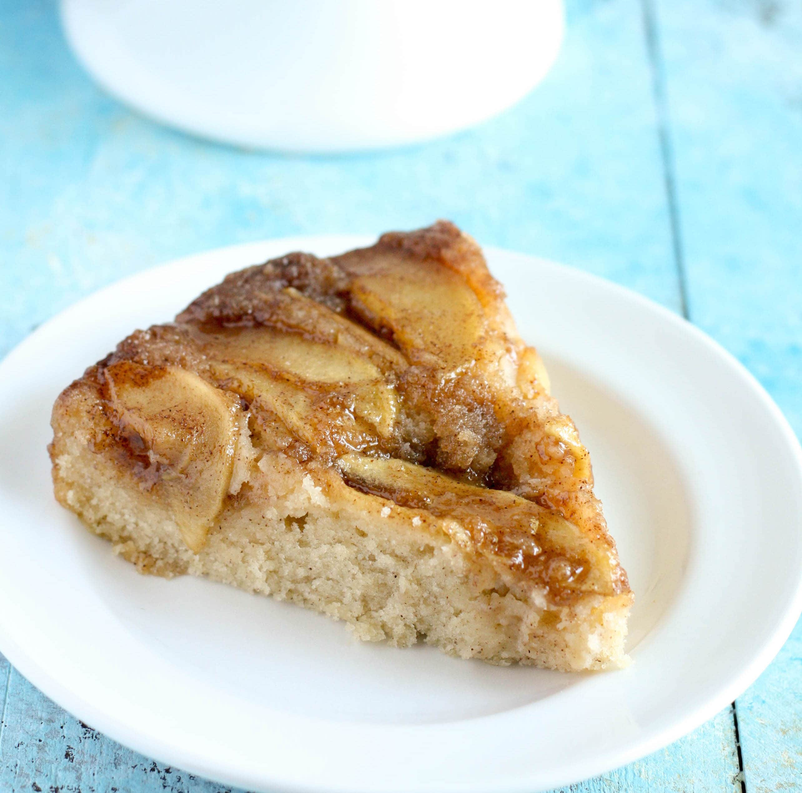 Upside Down Apple Cake  Caramel Apple Upside Down Cake