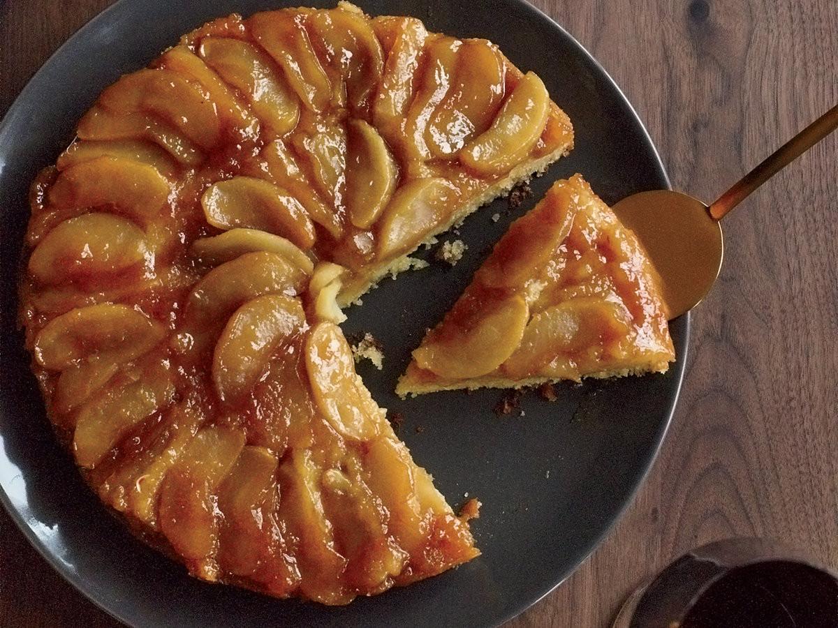 Upside Down Apple Cake  Maple Apple Upside Down Cake Recipe Joanne Chang