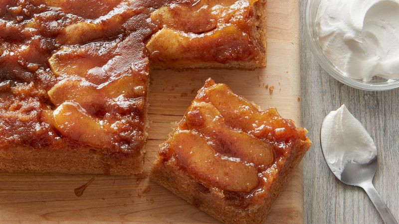 Upside Down Apple Cake  Caramel Apple Upside Down Cake Recipe BettyCrocker