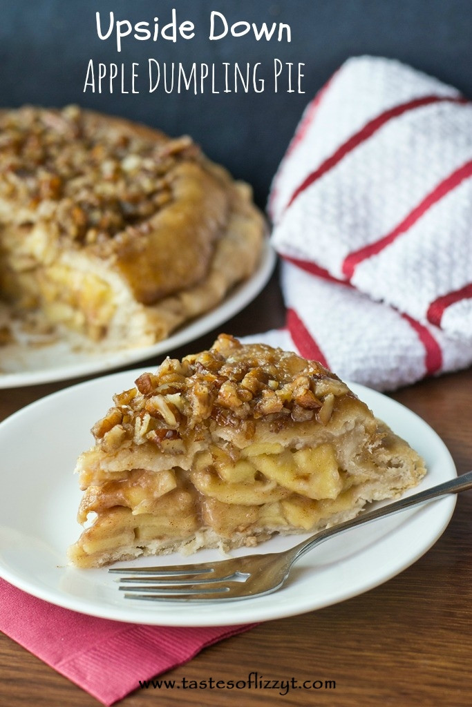 Upside Down Apple Pie  Upside Down Apple Dumpling Pie By Tastes of Lizzy T