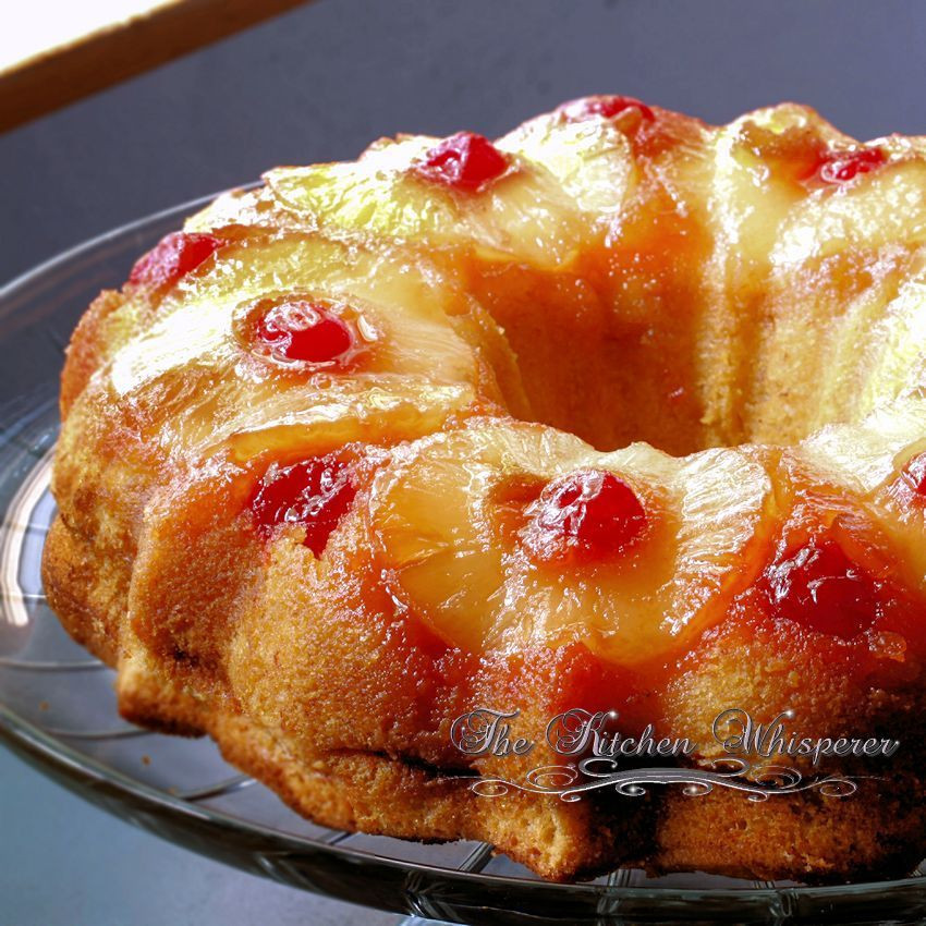 Upside Down Pineapple Bundt Cake  Pineapple Banana Upside Down Bundt Cake