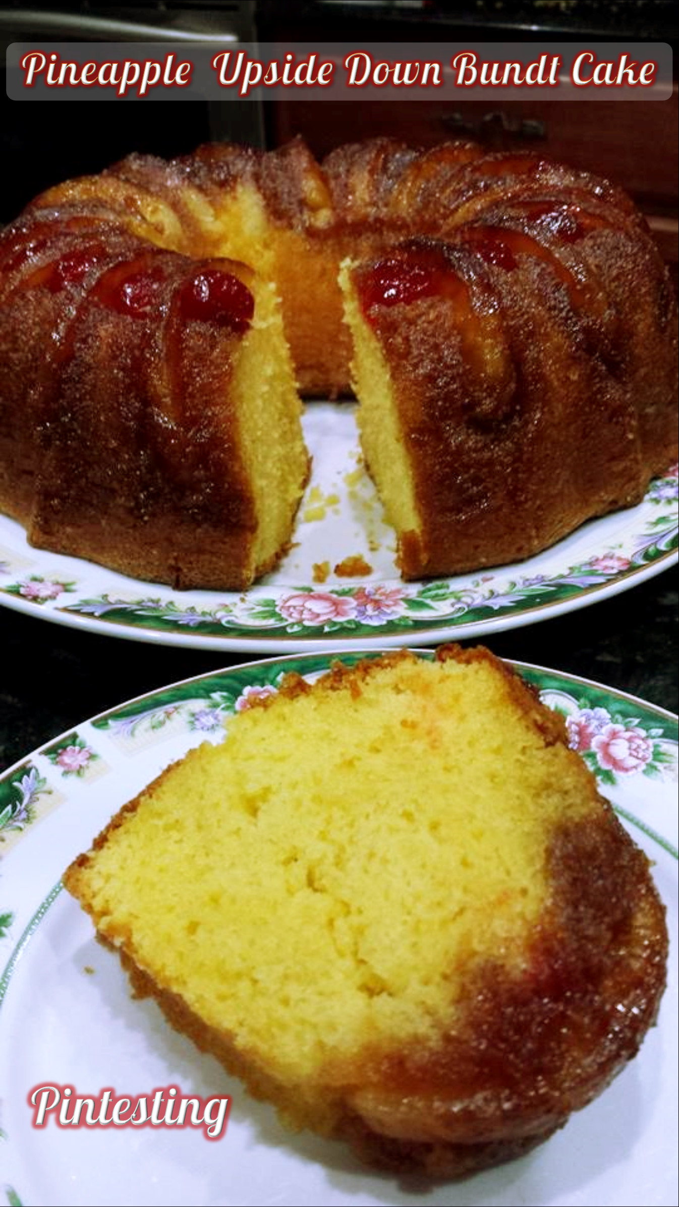 Upside Down Pineapple Bundt Cake  Pintesting Pineapple Upside Down Bundt Cake
