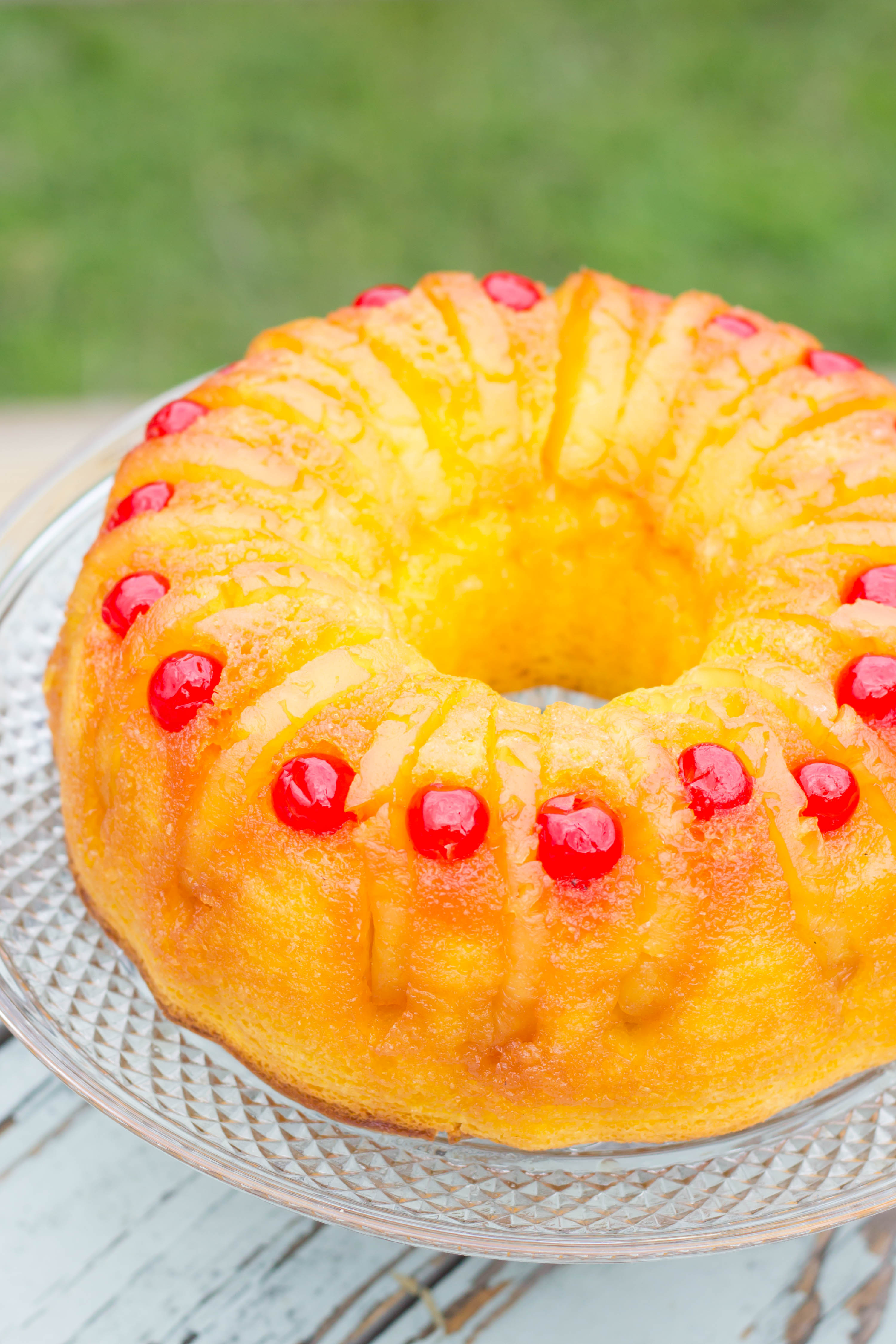 Upside Down Pineapple Bundt Cake  Pineapple Upside Down Bundt Cake Kendra s Treats