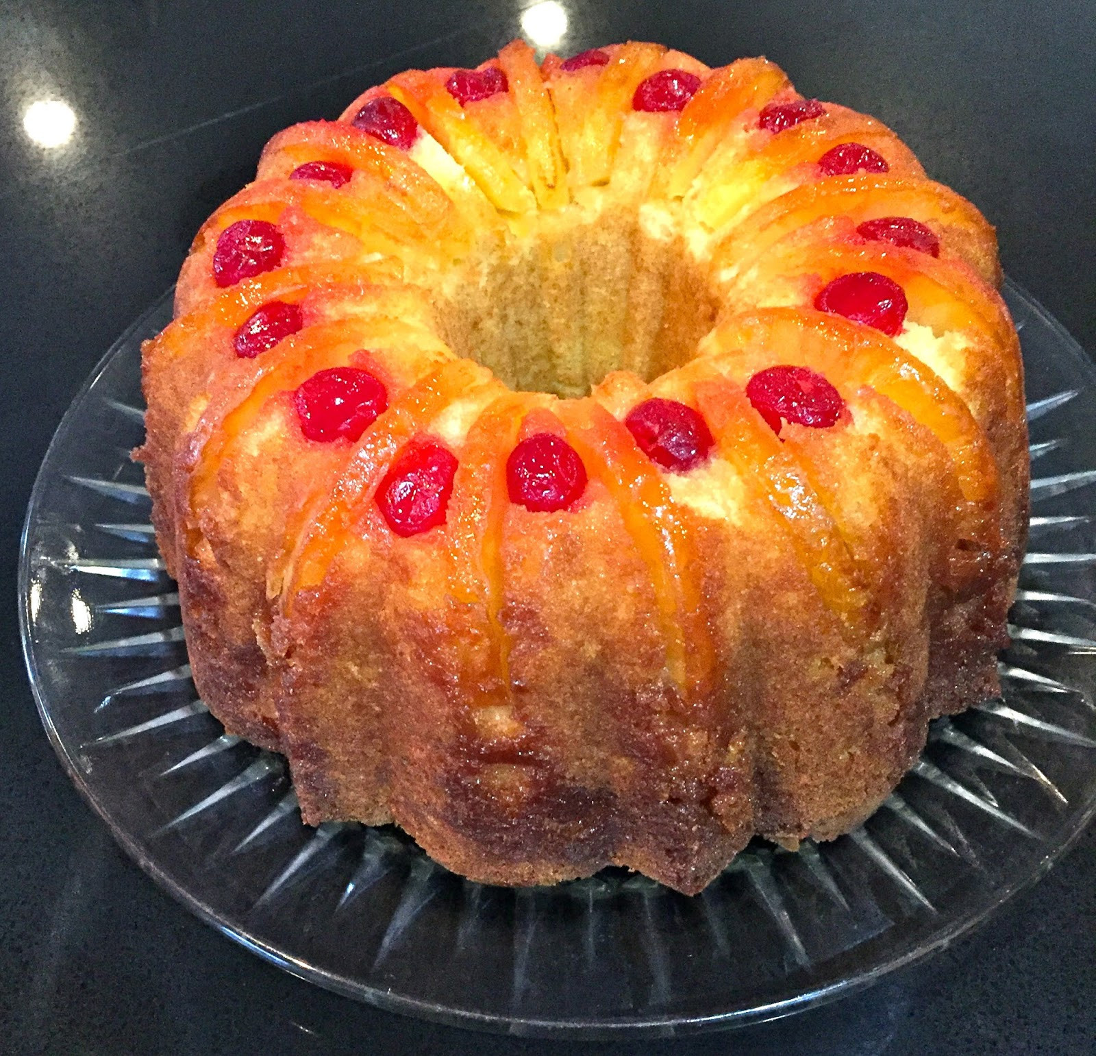 Upside Down Pineapple Bundt Cake  My Mother s Apron Strings Upside Down Pineapple Bundt Cake