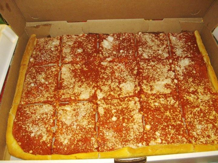 Utica Tomato Pie  Tomato Pie from Napoli s Bakery Utica NY The midwest has