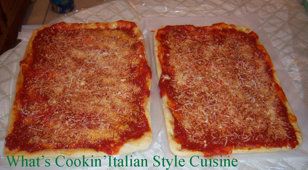 Utica Tomato Pie  utica tomato pie dough recipe