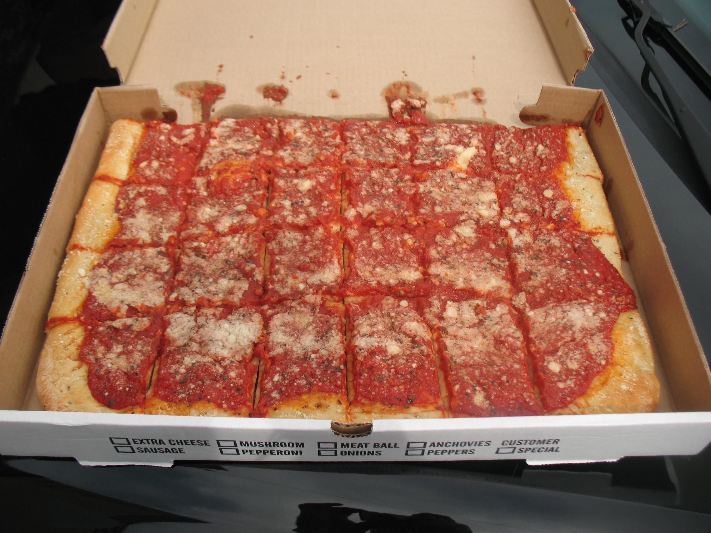 Utica Tomato Pie  romas tomato pie utica ny