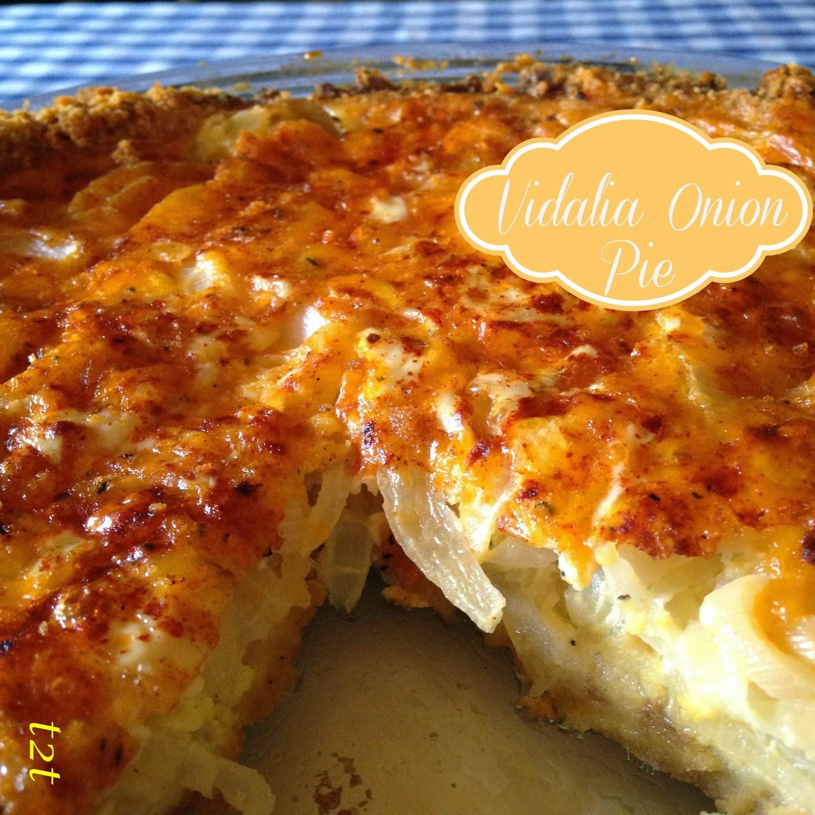 Vadalia Onion Pie  Turnips 2 Tangerines Cheddar and Ritz Cracker Vidalia
