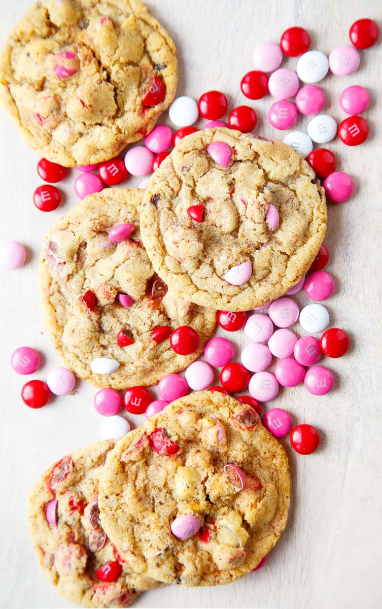 Valentine Day Cookies Recipe  MM Cookies soft and chewy using Valentine s Day m&ms