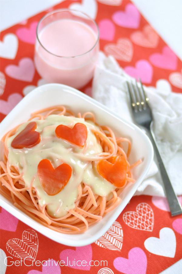 Valentine Dinner Ideas  Valentines Day Dinner Idea Pink Pasta & Red Pepper Hearts