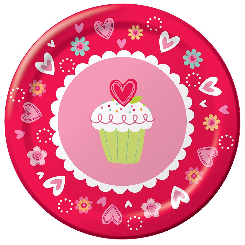 Valentine'S Day Dinner  56 Valentine Paper Plates Frosted Fun Valentine 039 s Day
