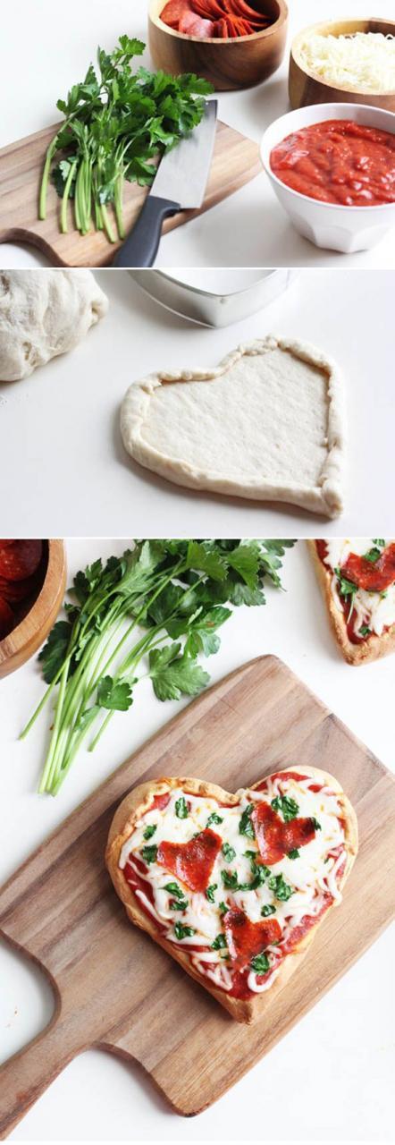 Valentine'S Day Dinner  Homemade Heart Pizza
