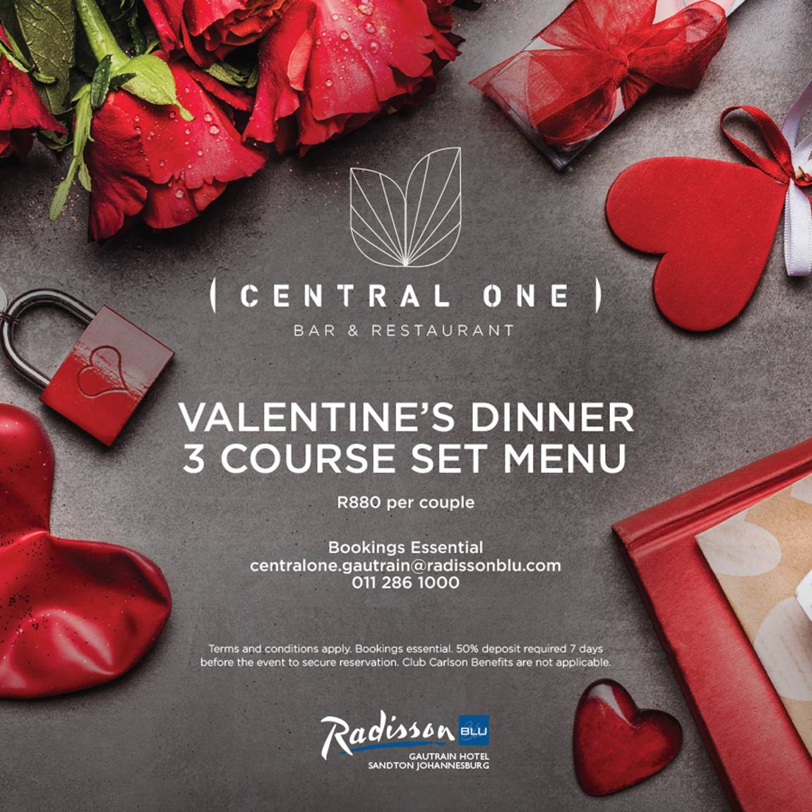 Valentine'S Day Dinner Specials  Valentines Day Dinner at Central e Restaurant